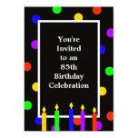 85th Geburtstags-Party Einladungs-bunte Kerzen 12,7 X 17,8 Cm Einladungskarte