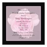 85th Geburtstags-Party Einladungs-Rose für 85. Quadratische 13,3 Cm Einladungskarte