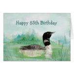85th Geburtstags-SpaßWatercolorloon-Vogel-Natur Grußkarten