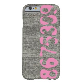 8675309 Telefon-Kasten-Beton mit rosa Zahlen Barely There iPhone 6 Hülle