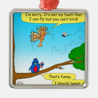 877 können nicht Vogel-Cartoon Silbernes Ornament