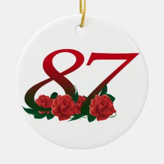 87. Geburtstags-oder der Nr.-87 Verzierung Keramik Ornament
