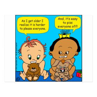 888 wie ich älteren Baby-Cartoon erhalte Postkarte