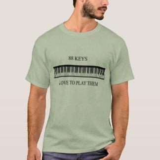 88 Schlüssel Liebe, sie zu spielen T-Shirt