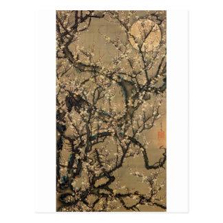 8. 梅花晧月図, 若冲 Mond- und Pflaumenblüten, Jakuchū Postkarten