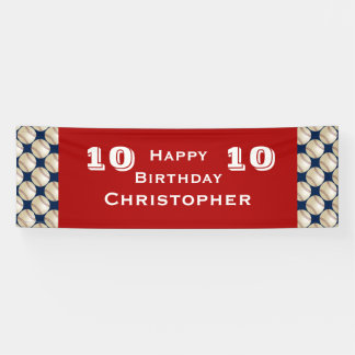 8., 9., 10., 11. Geburtstags-Party-Baseball Banner