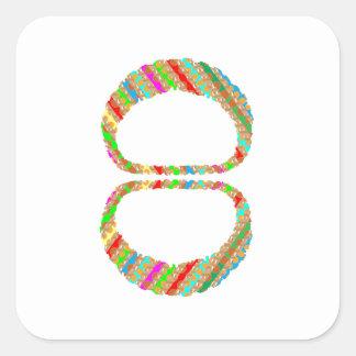 8 acht die Armband-Armband-Halskette V-Line Quadratischer Aufkleber