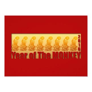 8 Affen für Neujahrsfest-Einladung 2016 14 X 19,5 Cm Einladungskarte