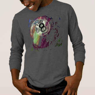 8 Ball abgefressenes abstraktes T-Shirt
