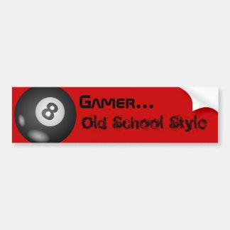 """8 Ball""""Gamer-… alte Schulart-"""" Autoaufkleber"""