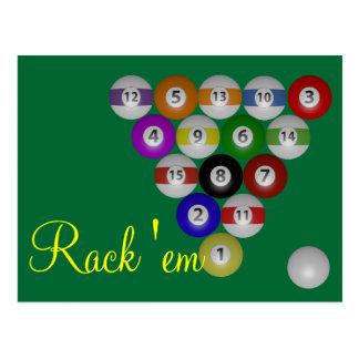 8 Ball-Gestell Postkarte