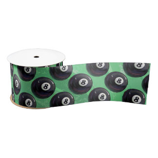 8 Ball-Muster Satinband