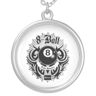 8 Ball-Tabellen-Läufer Versilberte Kette
