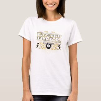 8 Ball-Vintager Entwurf T-Shirt
