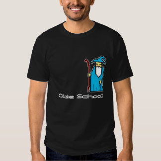 8 Bit Olde SchulZauberer-T-Stück Hemden