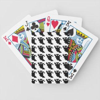 8 Bit-Pixel-Geist-Schatten Bicycle Spielkarten