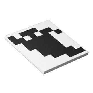 8 Bit-Pixel-Geist-Schatten Notizblock