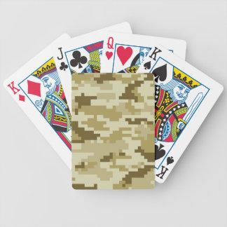 8 Bit-Pixel-Wüsten-Tarnung/Camouflage Bicycle Spielkarten