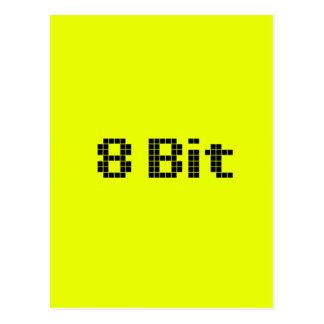8 Bit Pixelated Gelb/Schwarzes Postkarte