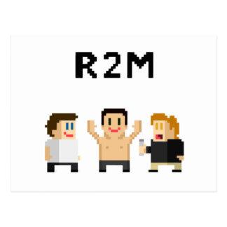 8 Bit R2M Postkarte