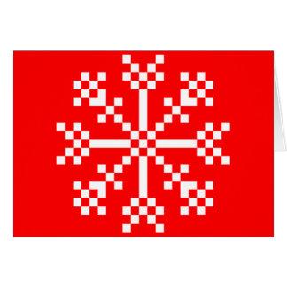 8 Bit Videospiel-Schneeflocke Karte