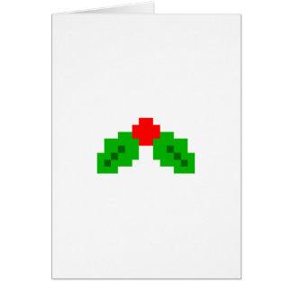 8-Bitpixel-Weihnachtskarte Karte