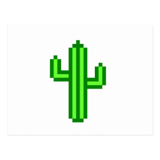 8-Bitsaguaro-Kaktus Postkarte