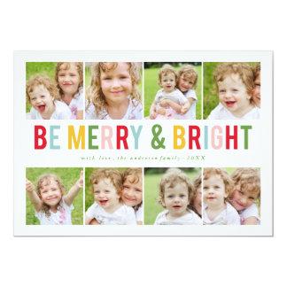 8 Foto-Collagen-Feiertags-Fotokarte 12,7 X 17,8 Cm Einladungskarte