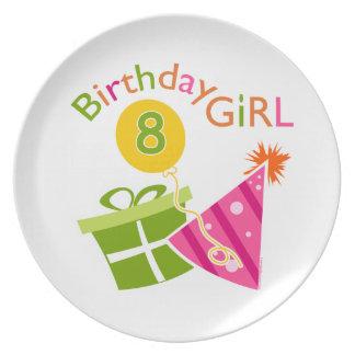 8. Geburtstag - Geburtstags-Mädchen Flacher Teller