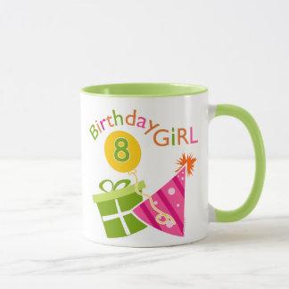 8. Geburtstag - Geburtstags-Mädchen Tasse