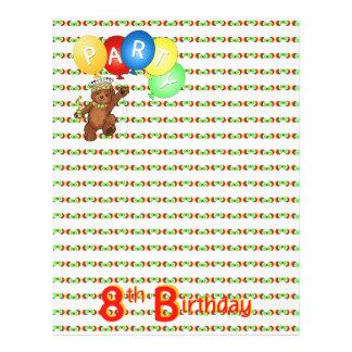 8. Geburtstags-Party-königliches Bärn-Einklebebuch 21,6 X 27,9 Cm Flyer