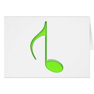 8. Gedrehtes großes Grün 2010 der Musik Anmerkung Karte