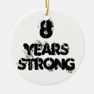 8 Jahre starke Erholungs-Feier-Verzierungs- Keramik Ornament