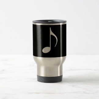 8. Musikalische Anmerkungs-Silber auf Schwarzem Reisebecher