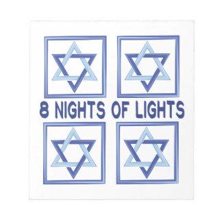 8 Nachtlichter Notizblock