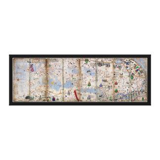 8 Platten-katalanischer Atlas durch Abraham Leinwanddruck