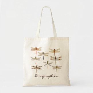 8 verschiedene Libellen Budget Stoffbeutel