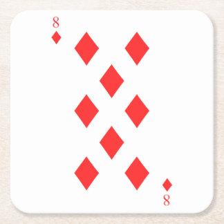 8 von Diamanten Rechteckiger Pappuntersetzer