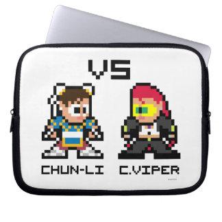 8bit ChunLi GEGEN C.Viper Computer Sleeve Schutzhülle