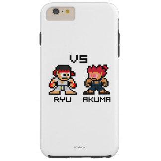 8bit Ryu GEGEN Akuma Tough iPhone 6 Plus Hülle