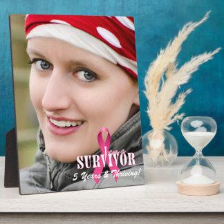 8x10 Vert Foto-Überlebend-Brustkrebs-Bewusstsein Fotoplatte