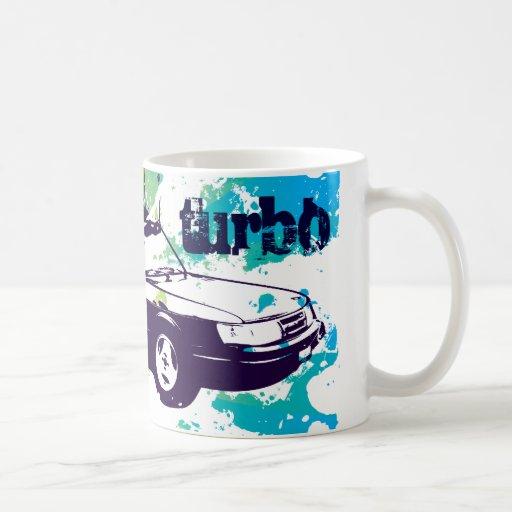 900 vert Turbo-Becher-Schmutz blau/Grün Kaffeetasse