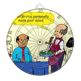 904 KochBrutus machte den Salat-Cartoon Dartscheibe