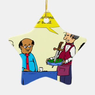 904 KochBrutus machte den Salat-Cartoon Keramik Stern-Ornament