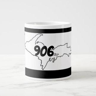 906er Michigan U.P. Jumbo Mug - Schwarzes/Weiß Jumbo-Tasse