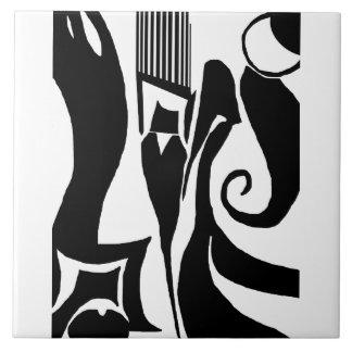 90 abstrakte schwarze u. weiße Fliese