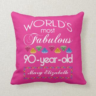 90. Geburtstag das meiste fabelhafte bunte Kissen