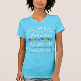 90. Geburtstag der meiste fabelhafte bunte T-Shirt
