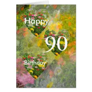 90. Geburtstag Karte