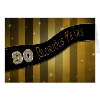 90. Geburtstag - prachtvolle Jahre Karte